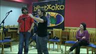 Bukaerako agurra. Ruben Sanchez eta Jon Ruiz de Pinedo