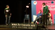 """Puntuak. Ander Fuentes """"Itturri"""" - Amaia Elizagoien - Xabier Terreros """"Terre"""" - Julen Zelaieta - Aimar Karrika"""